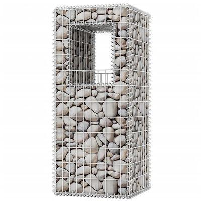 vidaXL Gabion Basket Posts/Planters 2 pcs Steel 50x50x120 cm