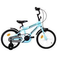 vidaXL Kids Bike 16 inch Black and Blue