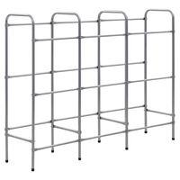 vidaXL Storage Shelf for 9 Crates Silver 145x33x116 cm Steel
