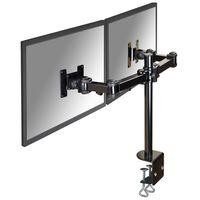 NewStar Full Motion Dual Desk Mount for Two 10-27 Monitor Screens Adjustable 10-43 cm Black