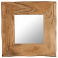 vidaXL Cosmetic Mirror 50x50 cm Solid Acacia Wood
