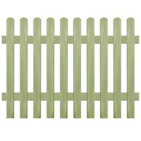 vidaXL Picket Fence Impregnated Pinewood 170x120 cm 6/9 cm