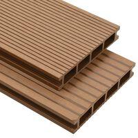 vidaXL WPC Hollow Decking Boards with Accessories 16 m² 2.2 m Teak