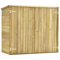 vidaXL Garden Tool Shed 135x60x123 cm Impregnated Pinewood