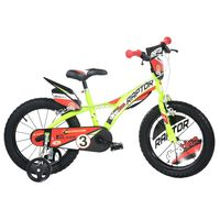 Dino Bikes Kids Bicycle Raptor Fluorescent Yellow 14