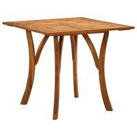 vidaXL Garden Table 85x85x75 cm Solid Acacia Wood
