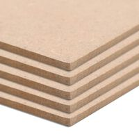 vidaXL 10 pcs MDF Sheets Rectangular 120x60 cm 2.5 mm