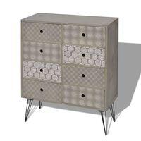 vidaXL Sideboard 8 Drawers Grey
