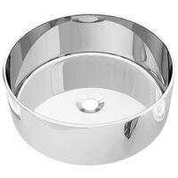vidaXL Wash Basin 40x15 cm Ceramic Silver