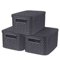 Curver Style Storage Boxes with Lid 3 pcs Size S 6L Anthracite