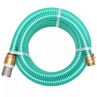 vidaXL Suction Hose with Brass Connectors 3 m 25 mm Green