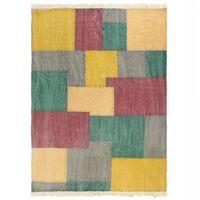vidaXL Handwoven Kilim Rug Cotton 160x230 cm Printed Multicolour