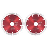 vidaXL Diamond Cutting Discs 2 pcs Steel 125 mm