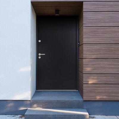 vidaXL Aluminium Front Door Anthracite 90x200 cm