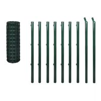 vidaXL Euro Fence Steel 10x1 m Green