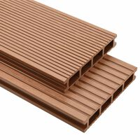 vidaXL WPC Decking Boards with Accessories 10 m² 2.2 m Brown