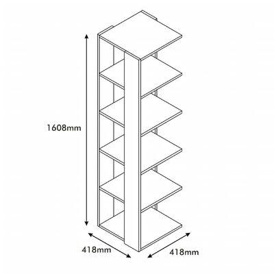 Homemania Bookcase Corner 41.8x41.8x160.8cm White