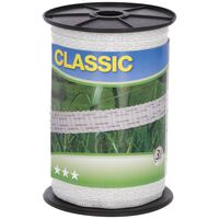 Neutral Electric Fence Tape Classic 200m 10mm White