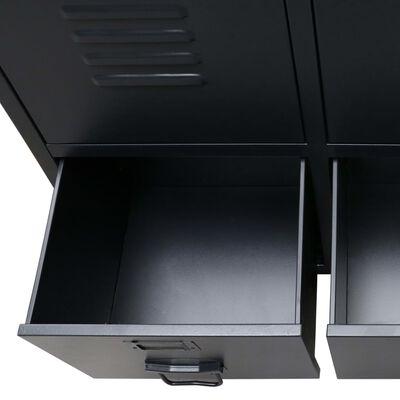vidaXL Wardrobe Metal Industrial Style 67x35x107 cm Black