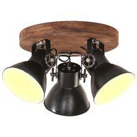 vidaXL Industrial Ceiling Lamp 25 W Black 42x27 cm E27