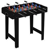 vidaXL Mini Soccer Table 69x37x62 cm Black