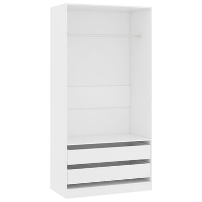 vidaXL Wardrobe White 100x50x200 cm Chipboard