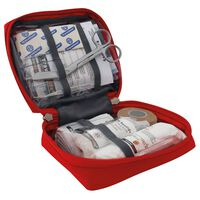 Travelsafe 23 Piece First Aid Kit Globe Basic Red