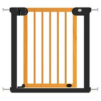 Baninni Baby Safety Gate Woody Metal and Wood 76-83cm