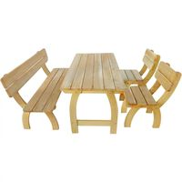 vidaXL Outdoor Dining Set 4 Pieces Impregnated Pinewood