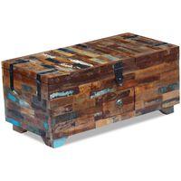 vidaXL Coffee Table Box Chest Solid Reclaimed Wood 80x40x35 cm