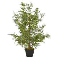 vidaXL Artificial Plant Cypress Tree with Pot Green 90 cm