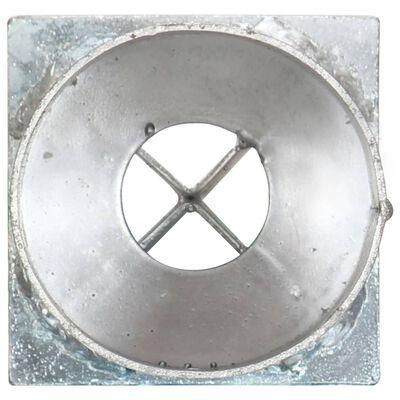 vidaXL Ground Spikes 2 pcs Silver 8x61 cm Galvanised Steel