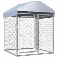 vidaXL Outdoor Dog Kennel with Roof 100x100x125 cm