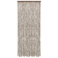 vidaXL Insect Curtain Taupe and White 56x185 cm Chenille