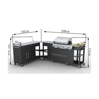 vidaXL Gas Barbecue Grill 4+1 Cooking Zone