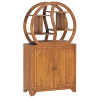 vidaXL Cabinet with Yin Yang Shelf 70x30x130 cm Solid Teak Wood