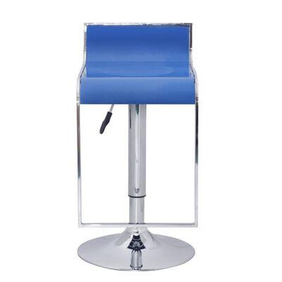 Bar stool low back blue ABS-plastic (set of 2)
