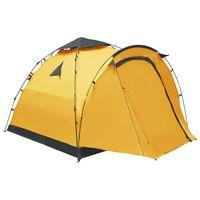 vidaXL Pop Up Camping Tent 3 Person Yellow