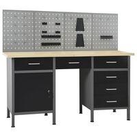 vidaXL Workbench with Four Wall Panels
