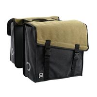 Willex Bicycle Double Pannier 101 Canvas 38L Green and Black