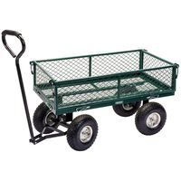 Draper Tools Steel Mesh Gardeners Cart 86.5x46.5x21 cm Green and Black