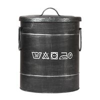 LABEL51 Laundry Box 26x26x33 cm S Antique Black