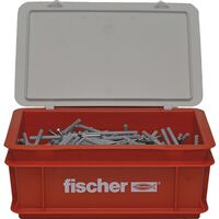 Fischer Nail Screw Set with Plugs N8x80 200pcs