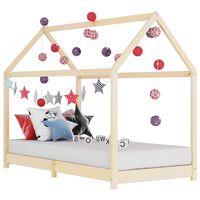 vidaXL Kids Bed Frame Solid Pine Wood 90x200 cm