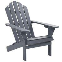 vidaXL Garden Chair Wood Grey