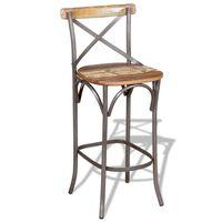 vidaXL Bar Chair Solid Reclaimed Wood