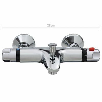 vidaXL Thermostatic Bathtub Shower Mixer Faucet Chrome