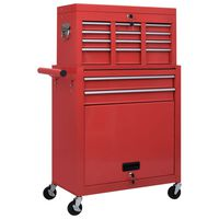 vidaXL Tool Trolley with Tools 7 Layers