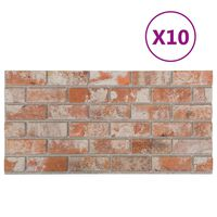 vidaXL 3D Wall Panels with Red Brick Design 10 pcs EPS