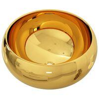 vidaXL Wash Basin 40x15 cm Ceramic Gold